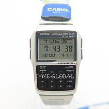 Casio DBC-32D-1A Databank Calculator Stainless Steel Watch DBC 32D