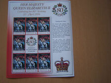 UNION ISLAND,2006,,QE11,80TH BIRTHDAY,SHEETLET OF 8 STAMPS,EXCELLENT.