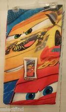 DISNEY CARS PLUSH BEACH BATH TOWEL~NEW~CARS PISTON CUP MAX SPEED PRINT~AWESOME