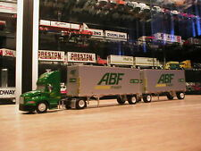 "ABF Freight TRUCK- DIE CAST TRACTOR--Plastic TRAILERS--  ""DOUBLES"" 1/87 SCALE"