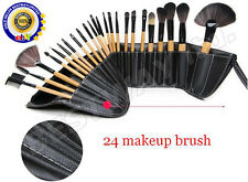 24 Pcs Professional Make up Brush Set Foundation Blusher Kabuki Brushes Set+CASE