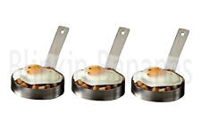 3 LARGE EGG RINGS PROFESSIONAL HEAVY DUTY COOKING COOKER FRIED FRYING PANCAKE 8B