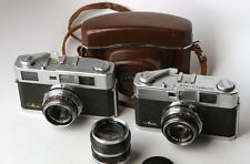 Olympus ACE rangefinder camera collection - 2 bodies & 3 zuiko lenses