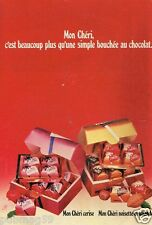 Publicité advertising 1978 Le Chocolat Mon Cheri Ferrero