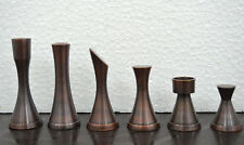 "Brass Metal chess pieces set SLEEK STEEL & COPPER  , king: 3.25""  - CHESSNCRAFTS"
