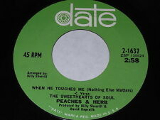 Peaches & Herb: When He Touches Me (Nothing Else Matters) / Thank You 45