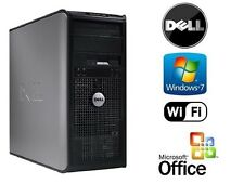 DELL PC CORE 2 DUO 3.0GHz 4GB 120GB SSD HDD Win 7 PRO & MSOffice Computer System