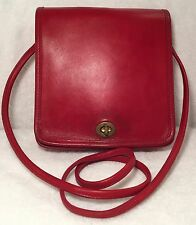 Vintage 1980s Coach Compact Pouch, 9620, Red, Made in New York City
