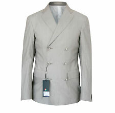 CORNELIANI CC Collection $930 double breasted blazer sport coat jacket 40/50 NEW