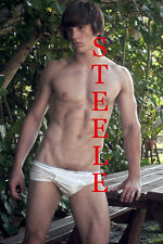 SEMI-NUDE MALE BEEFCAKE 8X10 PHOTO MUSCLE TWINKS HAIRY SMOOTH VARIETY BC67