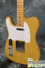 SX Left Handed Vintage Style Electric Guitar with Gig Bag - Butterscotch Blonde