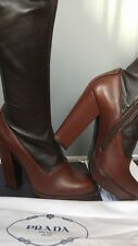 Prada women's leather heeled boots made in Italy size 4.5UK  (37.5EU) - SALE!