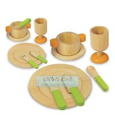 Wooden Dinner Lunch Party Food Play Set Party Toy Kitchen Toy Pretend & Play