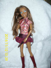 """MATTEL MY SCENE DOLL """"MADISON/WESTLEY"""" CUTE BURGUNDY ONE PC. OUTFIT W/BOOTS"""