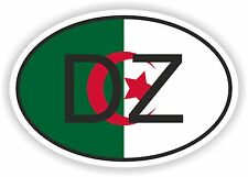 ALGERIA DZ AFRICAN COUNTRY CODE OVAL FLAG STICKER bumper decal car bike tablet
