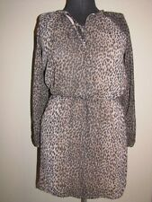 MSRP $80 MNG by Mango Long Sleeve Animal Print Dress Size Small Lined NWOT