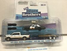 Greenlight Hitch & Tow Hollywood Blues Brothers 1974 Monaco, Ram 1500 & Flatbed
