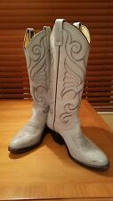 Vintage DAN POST Light Blue Leather  Cowboy Western Boots Women's 51/2 M