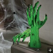 HALLOWEEN PROP GEMMY ANIMATED TALKING WITCHES HAND. Fingers wiggle, talks. NEW.