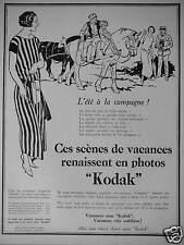 PUBLICITÉ 1924 KODAK L'ÉTÉ A LA CAMPAGNE SCÈNES DE VACANCES - ADVERTISING