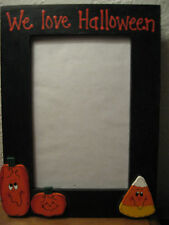WE LOVE HALLOWEEN -  Happy Halloween family holiday pumpkin photo picture frame