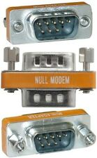 Lot90DB9pin Male~M Null Modem Nul/Cross Serial RS232cable gender changer Adapter