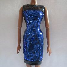 NEW 2016 The Look Barbie Night Out Doll Blue & Black Dress Model Muse Clothing 2