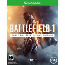 NEW! BATTLEFIELD 1: EARLY ENLISTER DELUXE EDITION (Microsoft Xbox One Disc 2016)