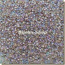 20 grs de Perles de rocailles Tchèque Light Irisé Marque Ornella