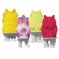 Tovolo Monster Popsicle Ice Pop Molds Set of 4, Cool Summer Treat Even Cooler