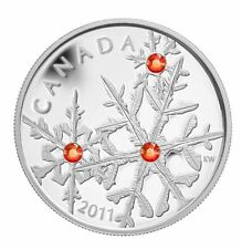 2011 CANADA $20  1OZ .9999% SILVER HYACINTH CRYSTAL SNOWFLAKES COIN WITH COA