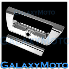 2015 FORD F150 Triple Chrome Trim Overlay Tailgate Door Handle Cover+Camera Hole