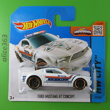 HOT WHEELS 2015 - Ford Mustang GT Concept weiß  -  HW City  - 49  -  neu in OVP