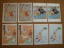 Selection of 8 Tintin Greetings Cards - 4 Different Tintin Images