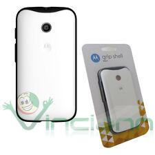 Custodia Grip Shell originale Motorola per Moto E cover rigida BIANCA+silicone