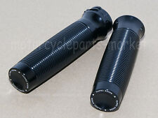 "Black CNC Rough Crafts 1"" Handlebar Hand Grips Harley Sportster XL 1200 883 48"