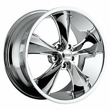 "CPP Foose F105 Legend Wheels Rims, 18x7 front + 20x10 rear, 5x4.75"", CHROME"