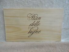 PIAN DELLE VIGNE  WOOD WINE PANEL