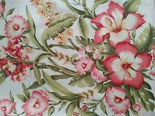11 Yards Duralee Misty Morning Cotton Upholstery Fabric Pink Floral Gladiolus