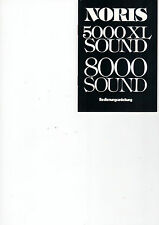 NORIS Projektion 5000 XL Sound 8000 Sound - Bedienungsanleitung B1835