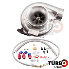 T70 Turbo Turbocharger T3 V-band Flange 0.70 A/R + Oil Drain Return FEED Lines