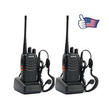 2x BAOFENG BF-888S UHF 400-470MHz 5W 16CH Ham Two Way Radio Walkie/Talkie US