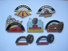DUNLOP MOTORCYCLE TYRES F1 RACE CAR MOTOR RACING GP VINTAGE PIN BADGE JOB LOT