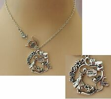 Silver Alice in Wonderland Necklace Jewelry Handmade NEW Chain Accessories