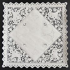 "25 - 8"" SQUARE WHITE Paper Lace Doilies 
