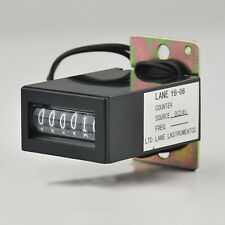 YB-06 6-Digit Electromagnetism Counter No Reset Electric Pulse Counter DC 24V
