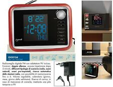 LOWELL EH50104 RADIOSVEGLIA DIGITALE LCD LED RADIO FM a 6/Mem MELODIE NATURALI