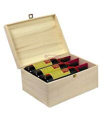 CASSETTA standard portabottiglie 6 posti in legno naturale per bottiglie vino