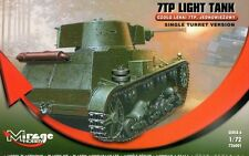 POLISH TANK 7 TP ( LATE / SINGLE TURRET )  SEPTEMBER 1939 1/72 MIRAGE