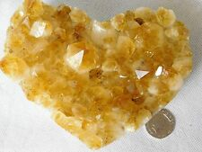 Large Citrine Crystal Heart Quartz Geode Great Romantic Gift 684g